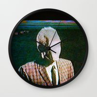 returns Wall Clocks featuring Slenderdad Returns by Art of the Glitch