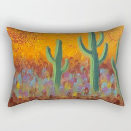 Saguaros Dreaming Rectangular Pillow