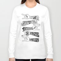 rock and roll Long Sleeve T-shirts featuring rock & roll  by jun salazar