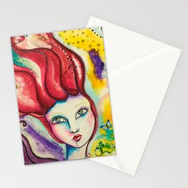 Flame - Gold Lotus Oracle Stationery Cards