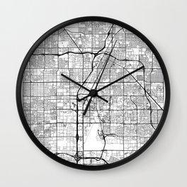 Las Vegas Map White Wall Clock