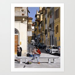Lovers in Santa Croce Art Print