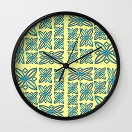 Fresco Flowers Wall Clock