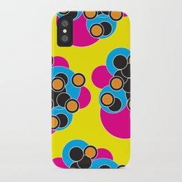 Retro Bubble Hearts iPhone Case