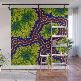 Aboriginal Art Authentic - Grasslands Wall Mural