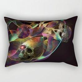 Vivid Skulls of Life Rectangular Pillow