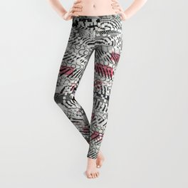 A Virtual Two By Four (P/D3 Glitch Collage Studies) Leggings