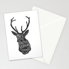 Merry Christmas Deer (4) Stationery Cards