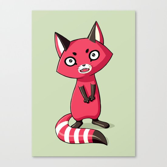 Shy Raccoon Canvas Print