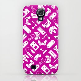 Control Your Game - White on Fuschia iPhone Case