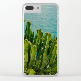Amalfi Coast Cactus Clear iPhone Case