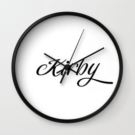 Name Kirby Wall Clock