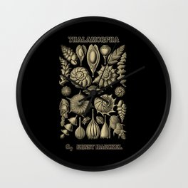 """""""Thalamorpha"""" from """"Art Forms of Nature"""" by Ernst Haeckel Wall Clock"""