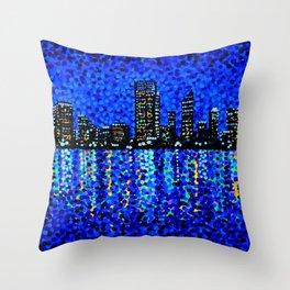 Perth Evening Blues Throw Pillow