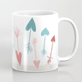 Heart Arrows for those In Love for Valentine's Day or any Cupids Out There Coffee Mug