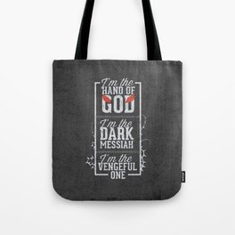 Iam the hand of God - Typography Tote Bag