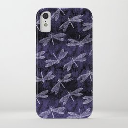Purple Dragonfly Twighlight Dance iPhone Case