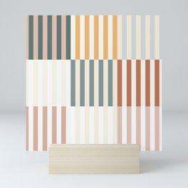 colorful lineart Mini Art Print