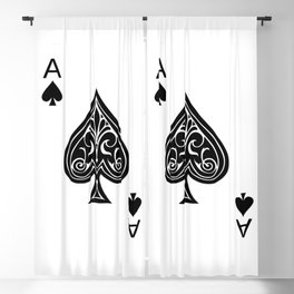 Ace of Spades Blackout Curtain