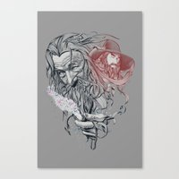 wizard Canvas Prints featuring Wizard by 2mzdesign