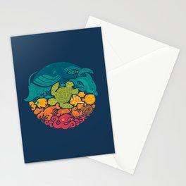 Aquatic Rainbow Stationery Cards