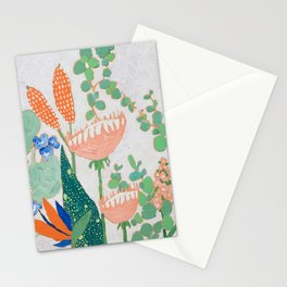Proteas and Birds of Paradise Painting Stationery Cards