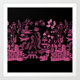 Gooo Willow in Black and pink Art Print