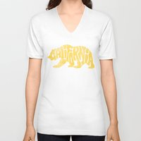 california V-neck T-shirts featuring CALIFORNIA by DCAY