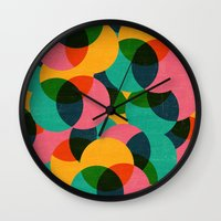 imagine Wall Clocks featuring imagine by her art