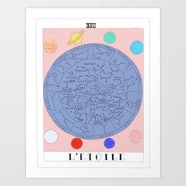 l'etoile - the star tarot card Art Print