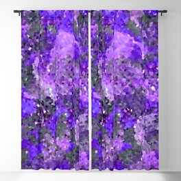 Aftermath of Spring, Abstract Floral Mosaic Art Blackout Curtain