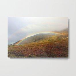 Double Rainbow Landscape Metal Print