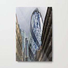 The Gherkin Condom Metal Print