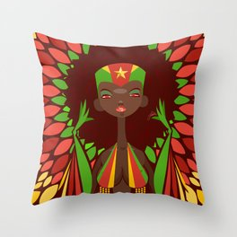 FIFA 2014 Samba Girls Series: Cameroon Throw Pillow