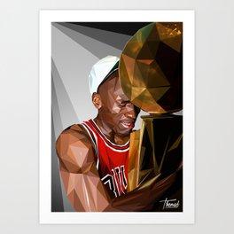 MJ THE GOAT Art Print
