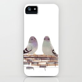 Pigeons in love iPhone Case