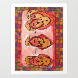 Care Free - Sole Mates Art Print