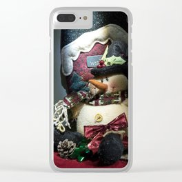 A Christmas Look Clear iPhone Case
