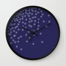 Autumn furoshiki Wall Clock