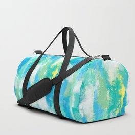 Abstract Modern Painting Mint Green Turquoise - Calm Green Duffle Bag