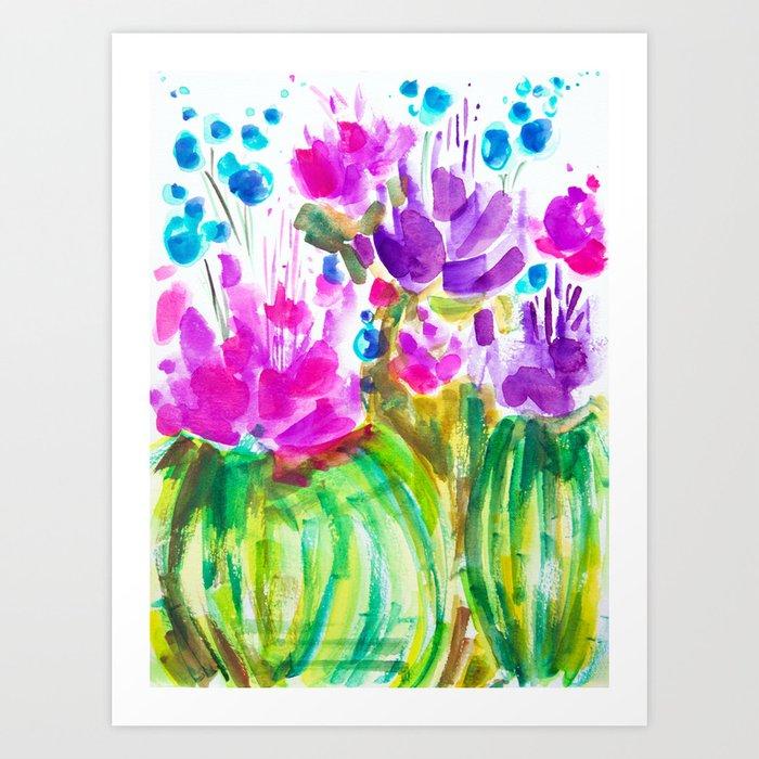 Flowerista Cactus Art Print