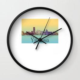 Yokohama Japan cityscape skyline lanscape Wall Clock