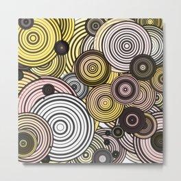 Layered circles Metal Print