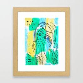 Feather Lady Framed Art Print