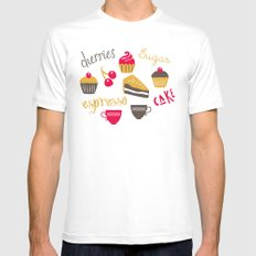 Teatime Treat MEDIUM Mens Fitted Tee White