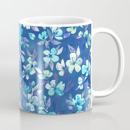 Grown Up Betty - blue watercolor floral Coffee Mug