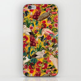FLORAL AND BIRDS XVIII iPhone Skin