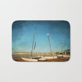 Sail Boats on the Beach Bath Mat