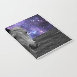 Horse Rides & Galaxy skies muted Notebook