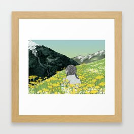 Spring in the Mountains Framed Art Print